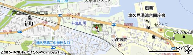 大分県津久見市セメント町3周辺の地図