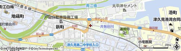 大分県津久見市セメント町8周辺の地図
