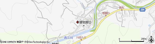 大分県津久見市上青江岩屋口周辺の地図