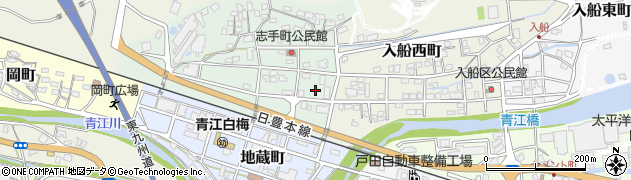 大分県津久見市志手町2周辺の地図