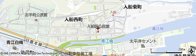 大分県津久見市入船西町3周辺の地図