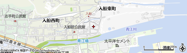 大分県津久見市入船東町8-4周辺の地図