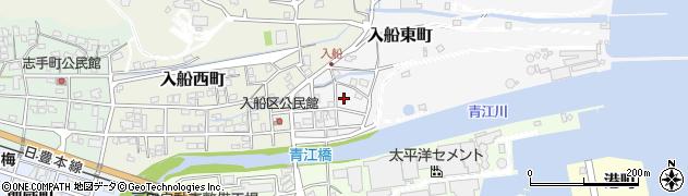 大分県津久見市入船東町8周辺の地図