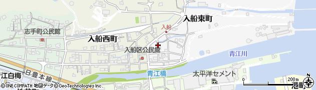 大分県津久見市入船東町4周辺の地図