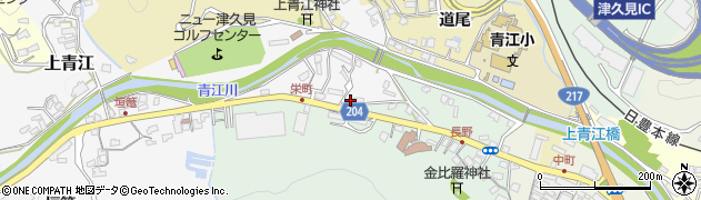 大分県津久見市上青江4948周辺の地図