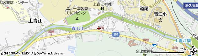 大分県津久見市上青江4961周辺の地図
