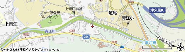 大分県津久見市上青江4927周辺の地図