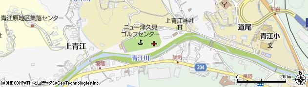 大分県津久見市上青江津留周辺の地図