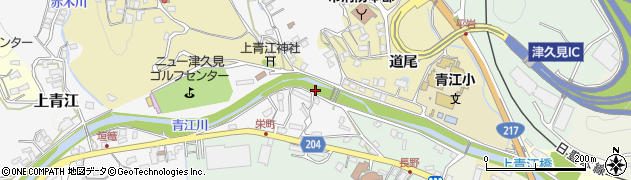 大分県津久見市上青江栄町周辺の地図