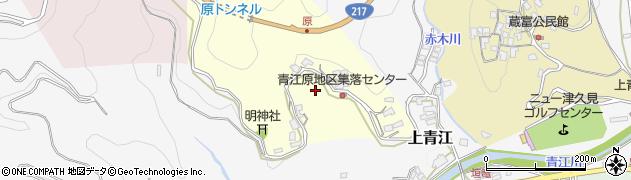 大分県津久見市上青江原周辺の地図