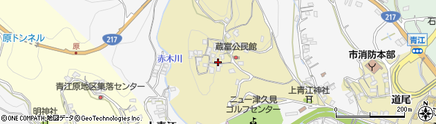 大分県津久見市上青江3198周辺の地図
