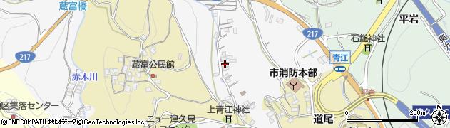 大分県津久見市上青江3322周辺の地図
