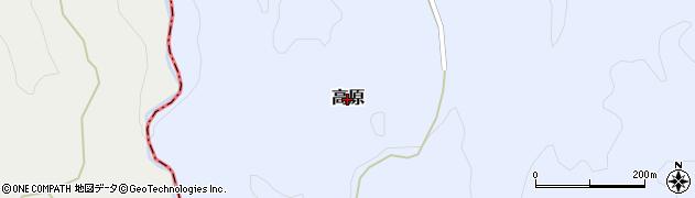 大分県大分市高原周辺の地図