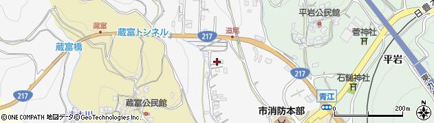 大分県津久見市上青江3344周辺の地図
