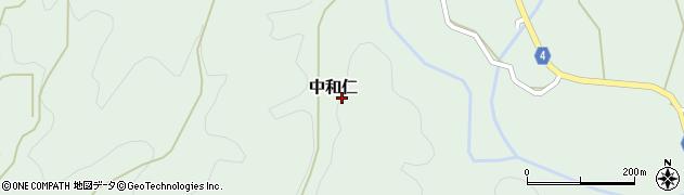熊本県和水町(玉名郡)中和仁周辺の地図