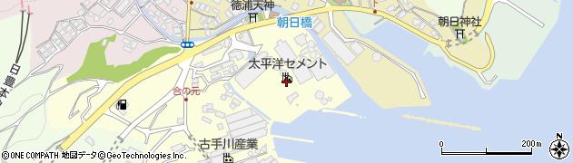 大分県津久見市合ノ元町8周辺の地図