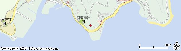 大分県津久見市堅浦内名周辺の地図