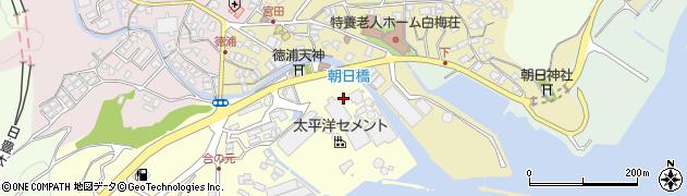 大分県津久見市合ノ元町10周辺の地図