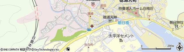 大分県津久見市徳浦宮町1周辺の地図