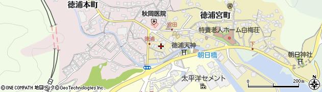 大分県津久見市徳浦宮町2周辺の地図