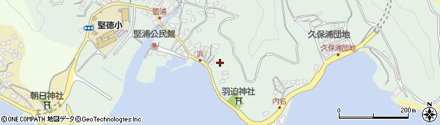 大分県津久見市堅浦1053周辺の地図