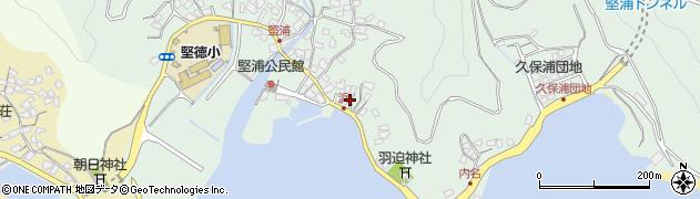 大分県津久見市堅浦1050周辺の地図