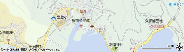 大分県津久見市堅浦929周辺の地図