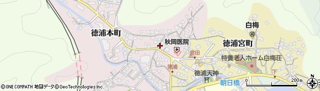 大分県津久見市徳浦本町周辺の地図