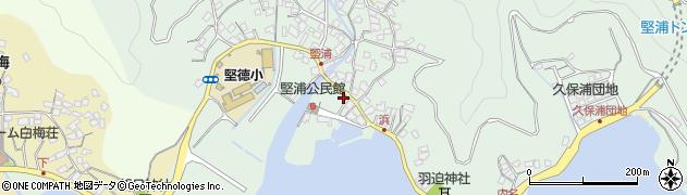 大分県津久見市堅浦926周辺の地図