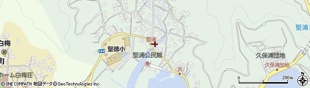 大分県津久見市堅浦319周辺の地図