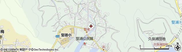大分県津久見市堅浦324周辺の地図