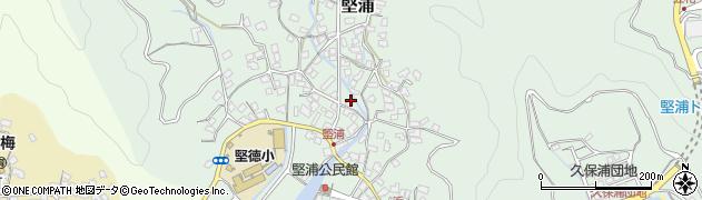 大分県津久見市堅浦334周辺の地図
