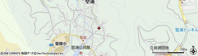 大分県津久見市堅浦948周辺の地図