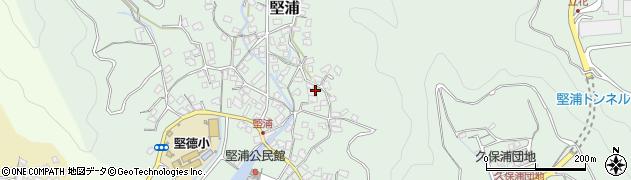 大分県津久見市堅浦中村周辺の地図