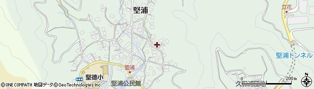 大分県津久見市堅浦950周辺の地図