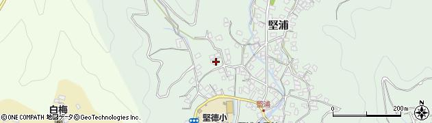 大分県津久見市堅浦194周辺の地図