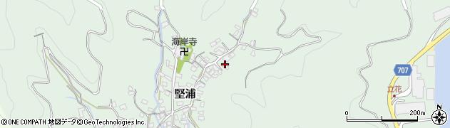 大分県津久見市堅浦866周辺の地図