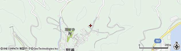 大分県津久見市堅浦627周辺の地図