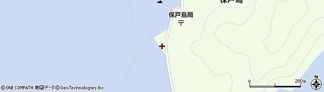 大分県津久見市保戸島新地周辺の地図
