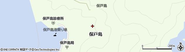 大分県津久見市保戸島上小路周辺の地図
