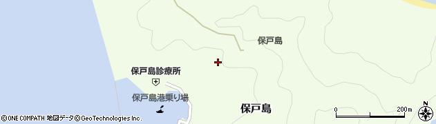 大分県津久見市保戸島西小路周辺の地図