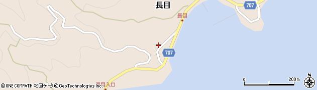 大分県津久見市長目1889周辺の地図