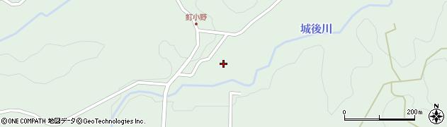 大分県竹田市直入町大字上田北釘小野周辺の地図
