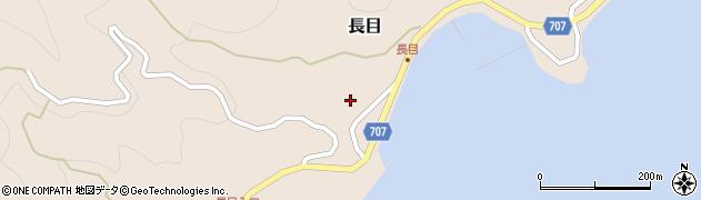大分県津久見市長目1566周辺の地図