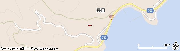 大分県津久見市長目1575周辺の地図