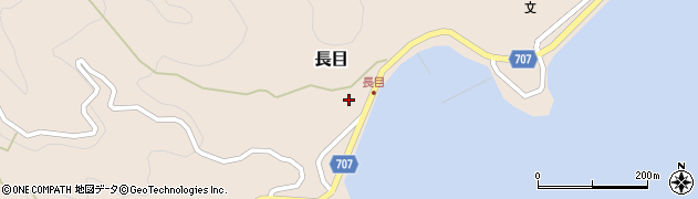 大分県津久見市長目1400周辺の地図