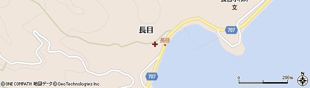 大分県津久見市長目1401周辺の地図