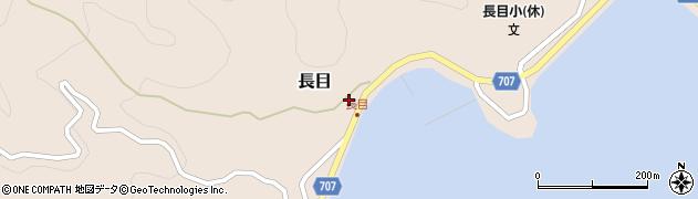 大分県津久見市長目1413周辺の地図