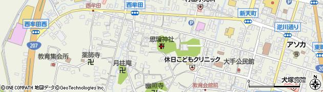 思瓊神社周辺の地図