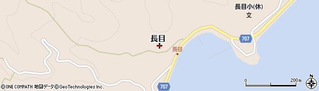大分県津久見市長目1511周辺の地図